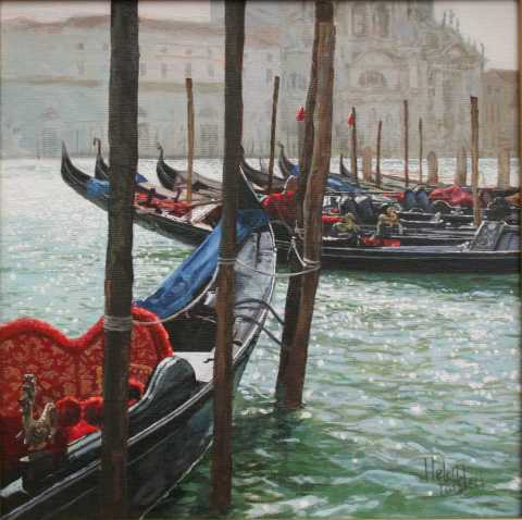 Gondolas at the Salute